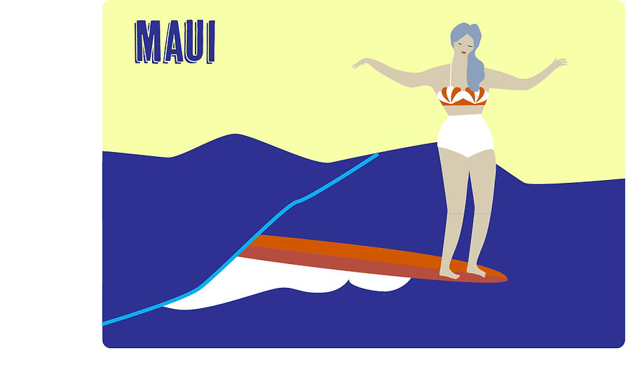 Hawaii Noserider Woman Postcard