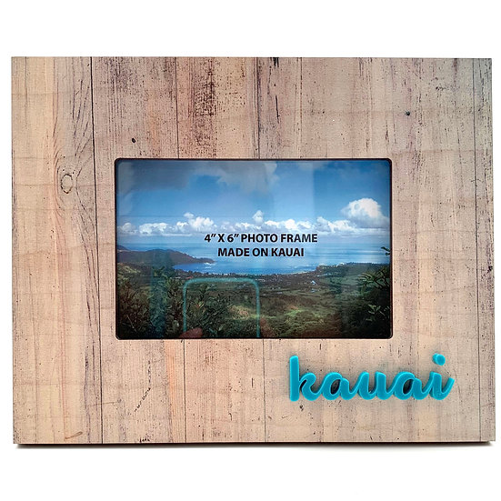Natural Woodgrain Raised Letters Photo Frame
