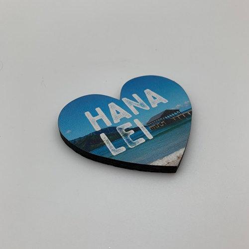 Hanalei Pier Heart Magnet
