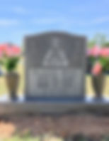 Headstone after leveling