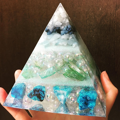 Blue Quartz Pyramid