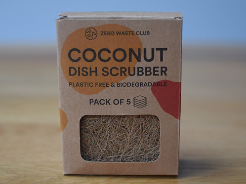 Coconut Dish Scrubbers (Pack of 5)