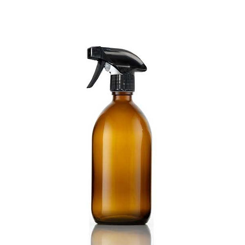 300ml Amber Glass Bottle with Trigger Spray