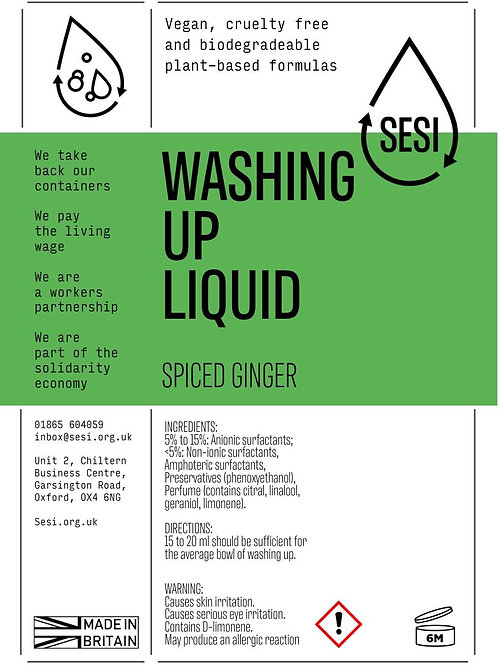 SESI Washing Up Liquid - Spiced Ginger