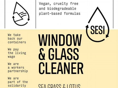 SESI Window and Glass Cleaner - Seagrass & Lotus
