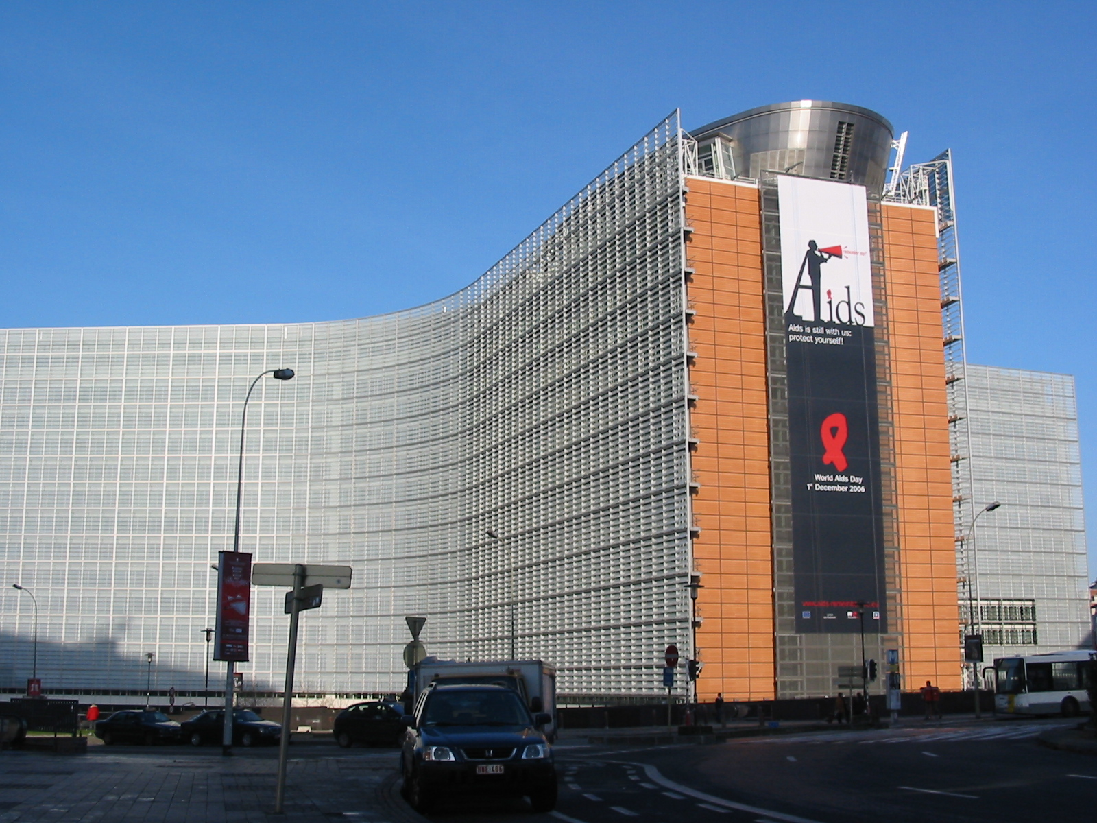 World_AIDS_Day,_European_Commission_building,_Brussels
