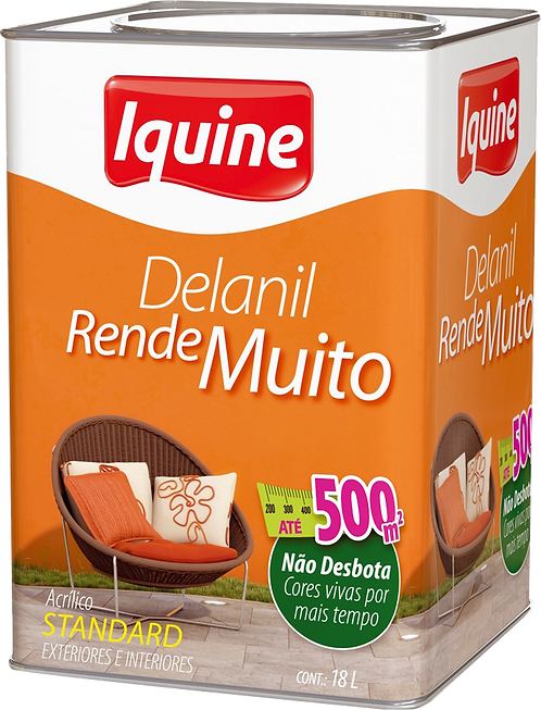TINTA DELANIL RENDE MUITO FOSCO 16L IQUINE