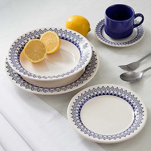 Aparelho de Jantar e Chá em Cerâmica Donna Oxford - 20 Peças - Grécia