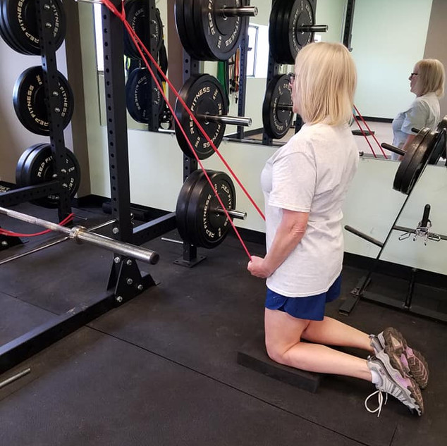 Tall Kneeling Straight Arm Pull Down