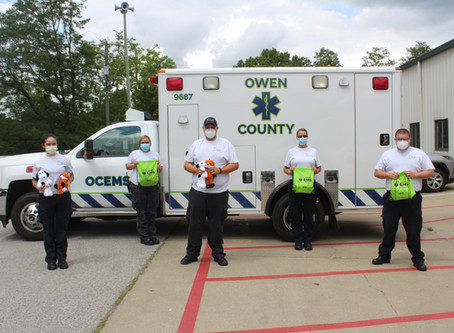 Owen County EMS receives donation from Ty Inc.