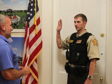 Newest Owen County sheriff's deputy sworn in