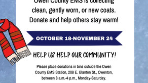 Owen County EMS seeks coat donations for first annual coat drive