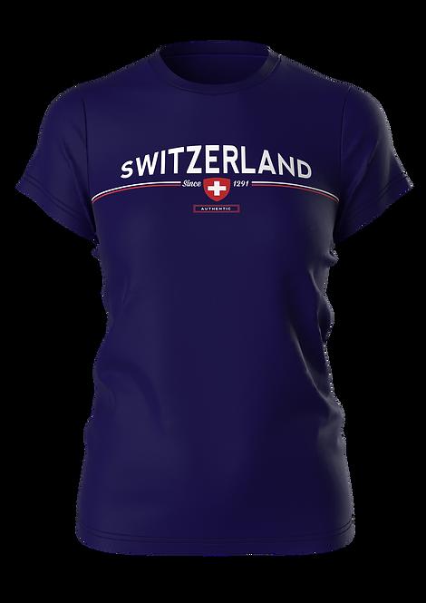 T-SHIRT SWITZERLAND BASIC (blue)