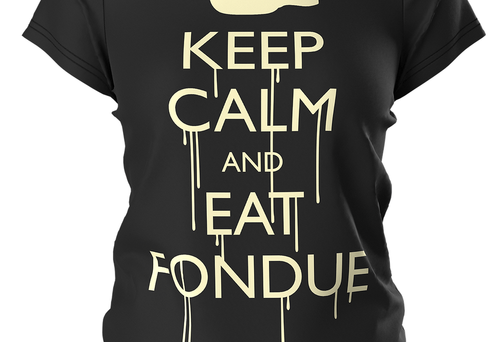 T-SHIRT KEEP CALM & EAT FONDUE (vanilla print)