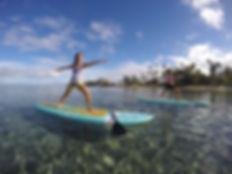 paddleboard yoga class