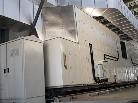 Datacenter Air-to-Air cooling system (20 x 150 kW) installation completed