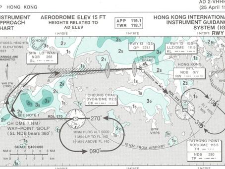 Kai Tak VHHX IGS RWY13 Checkerboard landing