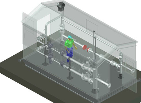 Manufacturing of a natural gas pressure reduction station (PRS) for the Canadian gas grid