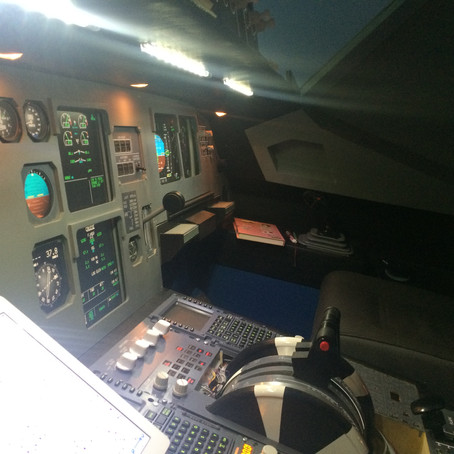 A320 Dummy Foot Rests and Table Setup for the Simulator