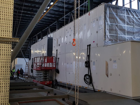 Datacenter Air-to-Air cooling system (20 x 150 kW) installation progress