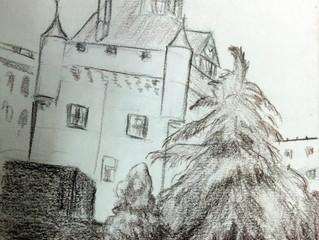 עם sketch book בטולוז