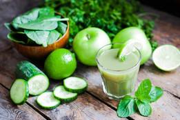 Taller colaciones y jugos verdes