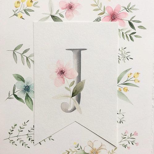 Banderines nombres y flores