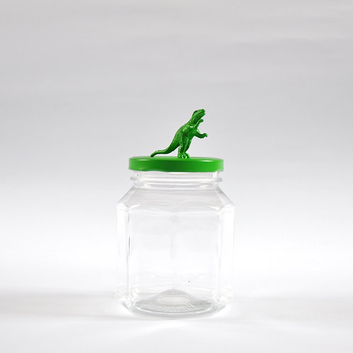 Frasco Tiranosaurio verde