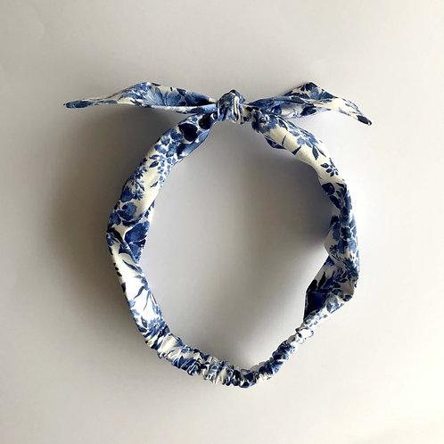 Cintillo Floreado Azul