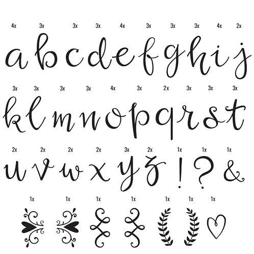 Letras script, Caja de luz