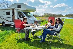 Camping familj