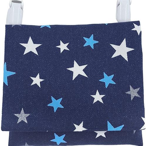 移動ポケット 付けポケット 紺×星柄 男の子 女の子 どこでもポケット ハンドメイド 日本製