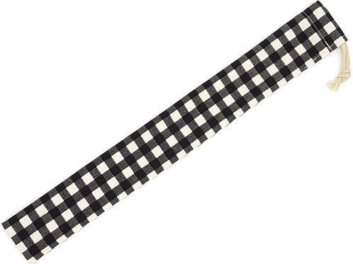 ものさし入れ 黒×ギンガムチェック柄 30cmものさし用 男の子 女の子 ハンドメイド 日本製
