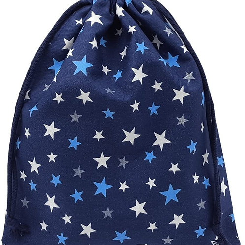 体操着袋 紺×星柄 男の子 女の子 巾着袋 大 ハンドメイド