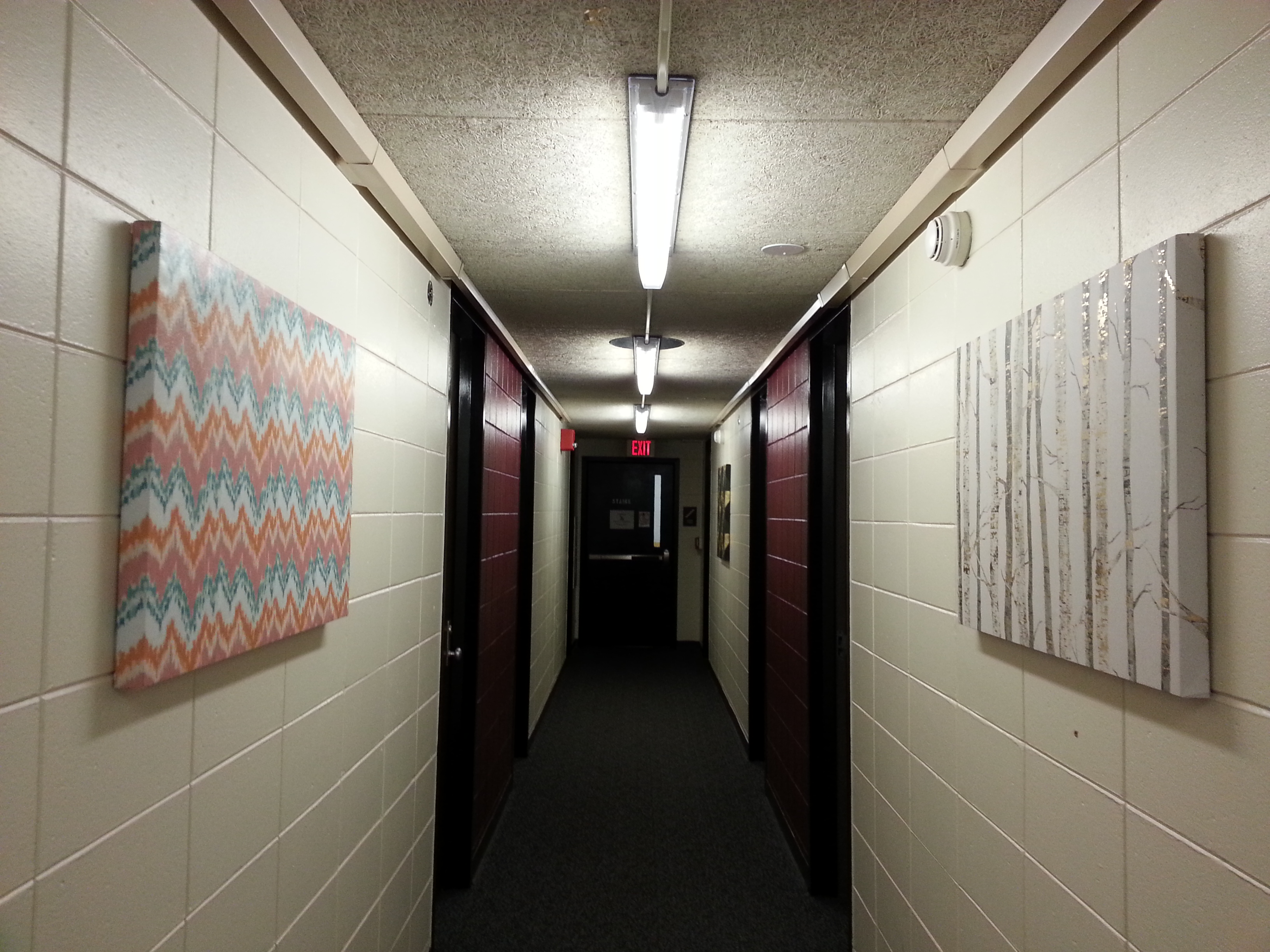 girl hallway / central boarding acad