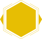 Yellow decorative hexagon