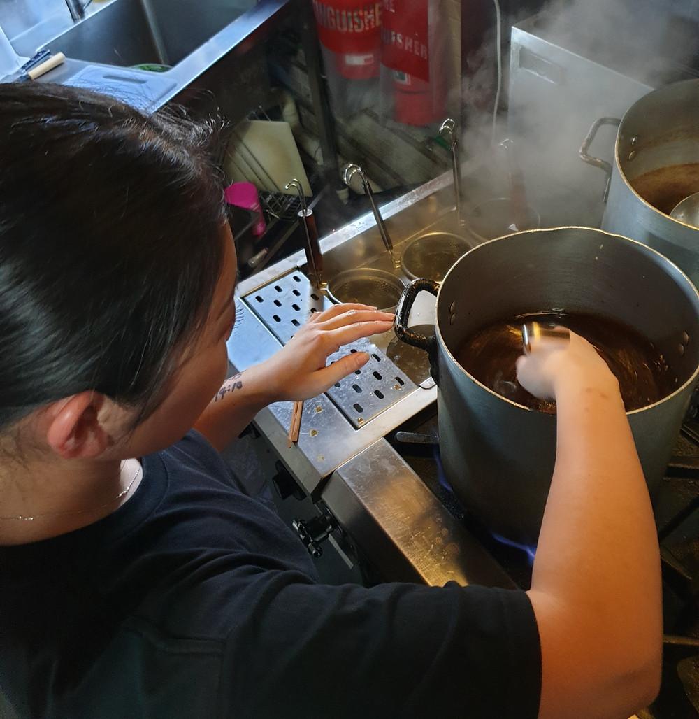 Shinmachi ramen soup