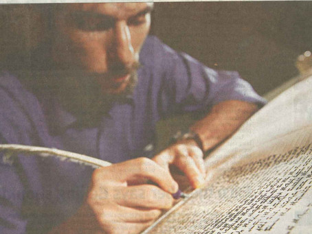 Scribe Writes New Chapter in City's Jewish History