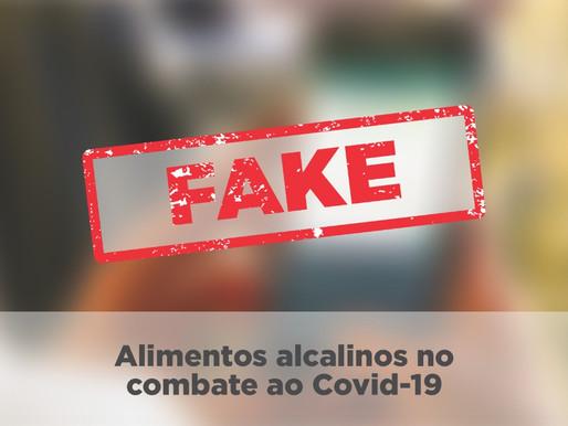 Alimentos alcalinos não combatem o COVID-19
