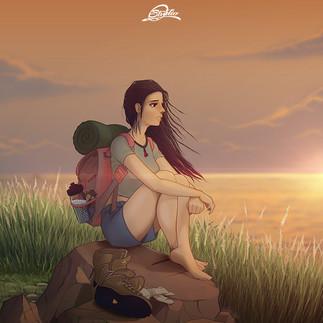 Girtl at sunset
