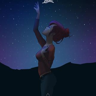 Girl at night