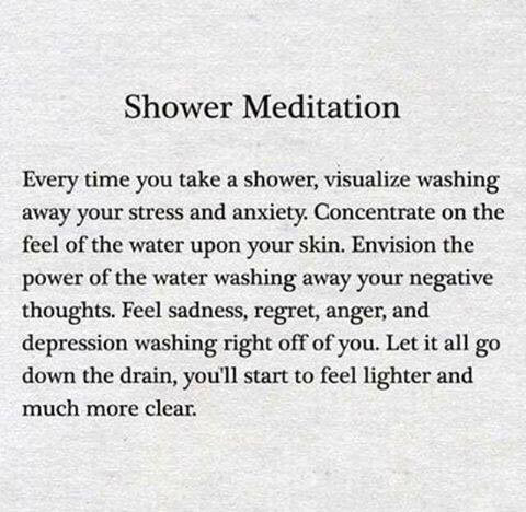 shower meditaton, mediation for busy people