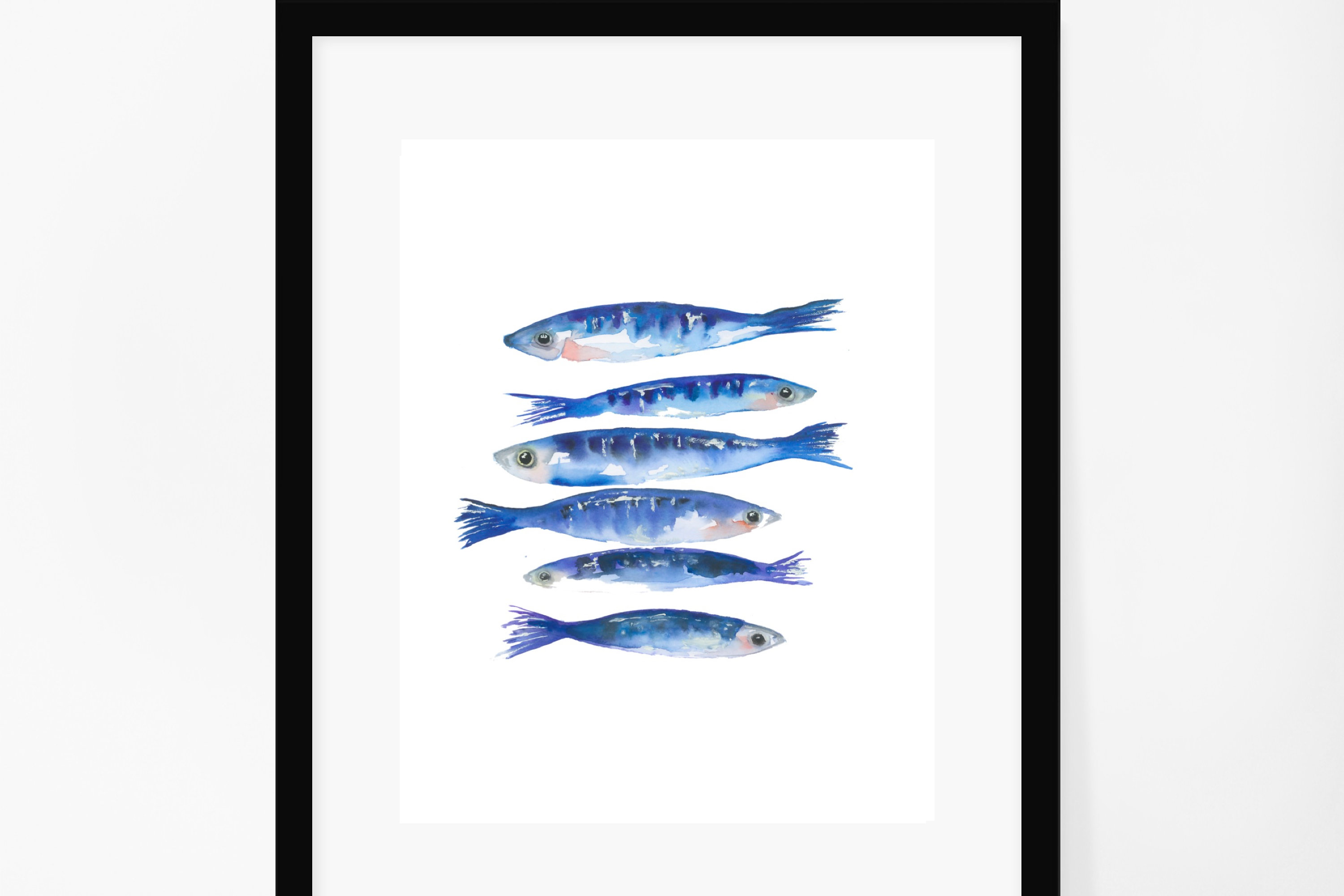 watercolour art prints swim in your own direction