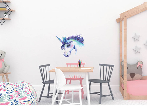 Magical U0027Unicorn Loveu0027, Wall Decal From My Watercolor Enchanted Forest  Animals Collection. Removable And Reusable, PVC Free Fabric Wall Sticker.