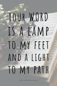 Your Word is a lamp to my feet and a light to my path. - Scripture Art