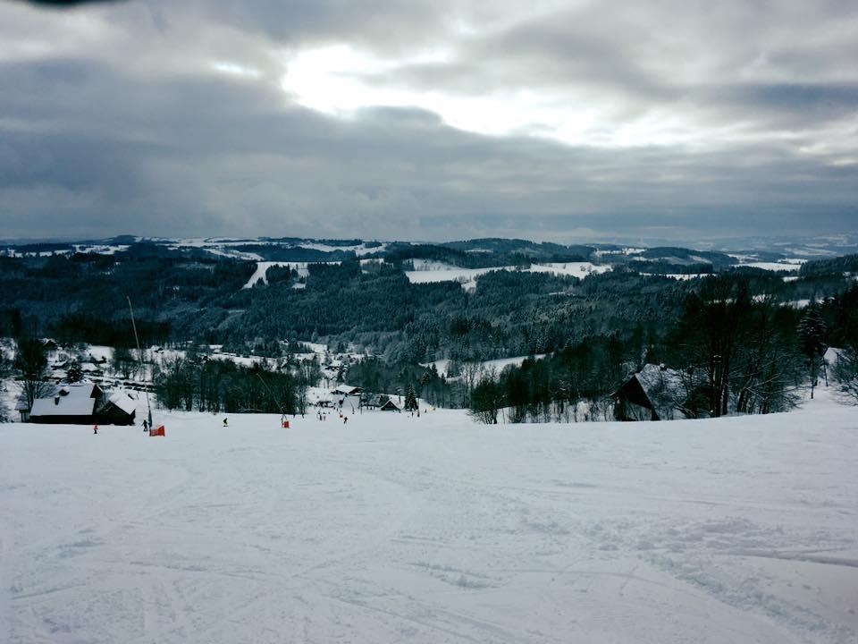 Pohled z chaty - zima