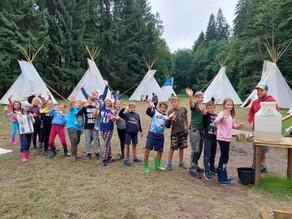 Pobytový tábor v teepee byl úžasný!