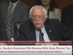 Bernie Sanders grills FDA head Robert Califf for KILLING PEOPLE for profits