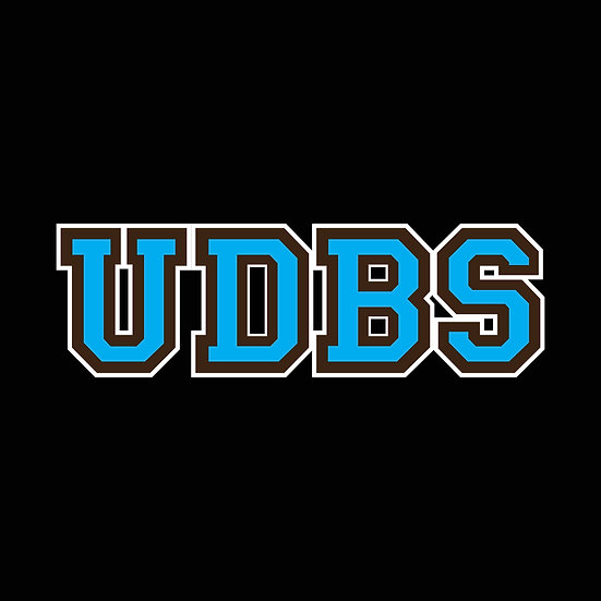 "University of Don't Be Stupid - 3"" UDBS Initials Decal"