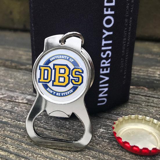 University of DBS Keychain Bottle Opener